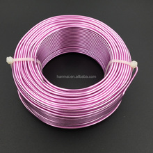2mm pink colorful aluminum wire, aluminum craft wire