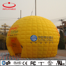 promotional yellow color inflatable globe room, pvc inflatable promotion igloo tent