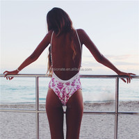Custom Made Sexy One Piece Thong Swimwear