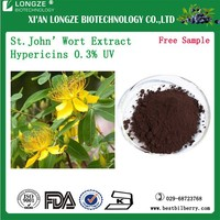 Natural st.john's wort extract hypericin 0.3% UV st.john's wort p.e powder extract