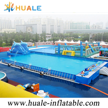 Outdoor and indoor inflatable metal frame swimming pool for sale