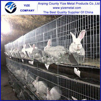 China factory wholesale industrial outdoor 3 story rabbit cages