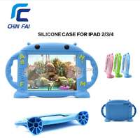 Cover For iPad 2/3/4 Kids Child Safe Soft Case Handle Shockproof Case Heavy Duty Silicone Case for iPad 2 3 4 Free Shipping