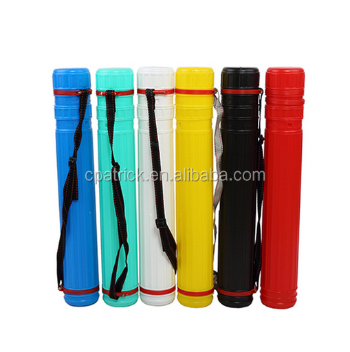 Fashion Colourful Plastic Artist Drawing Storage tube
