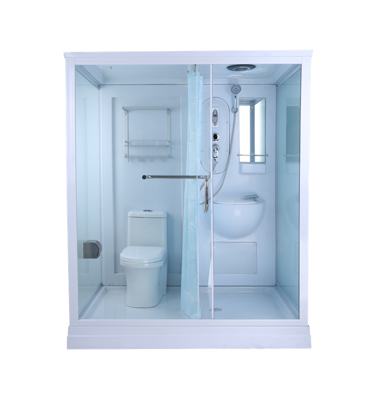 Best Selling Durable Using White Painted Aluminium Frame Ready Made Bathroom