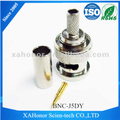 Coaxial connector rg142 bnc jack for RG188 cable