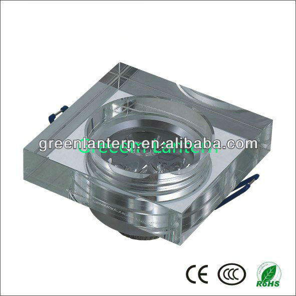 High quality Square 3w Crystal led ceiling light