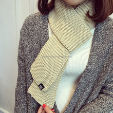 Winter used multicolor longer knitted scarf