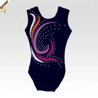 Custom Made Dazzling Rhinestone Gymnastic Leotards Gymnastics Leotards for Girls