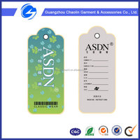 Custom Apparel Garment Clothing Folded Hang Tag Designs Hang Paper Tag shoes hang tag
