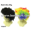 New Novelty Toy Small Colorful Twist Curly Multi Afro Wig