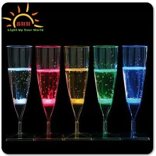 crazy straw cup, color change drinking glass, colorful induction led flash cup