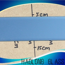 customized blue tinted art decor mirror strips