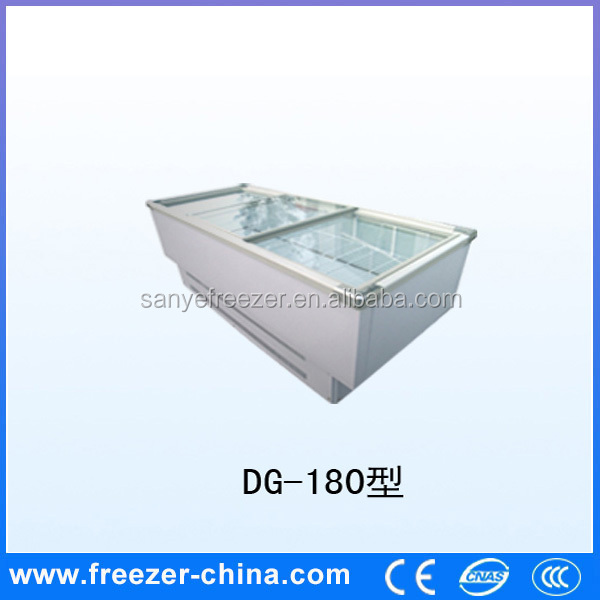 China Commercial retail horizontal 2 door commercial fridge