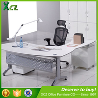 Latest design customized modern L shape corner home office desk made in China