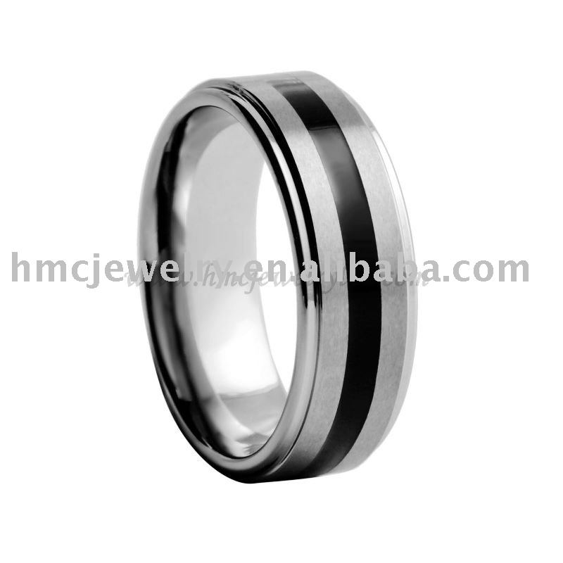 Tungsten Ring with Resin Enameled inlay