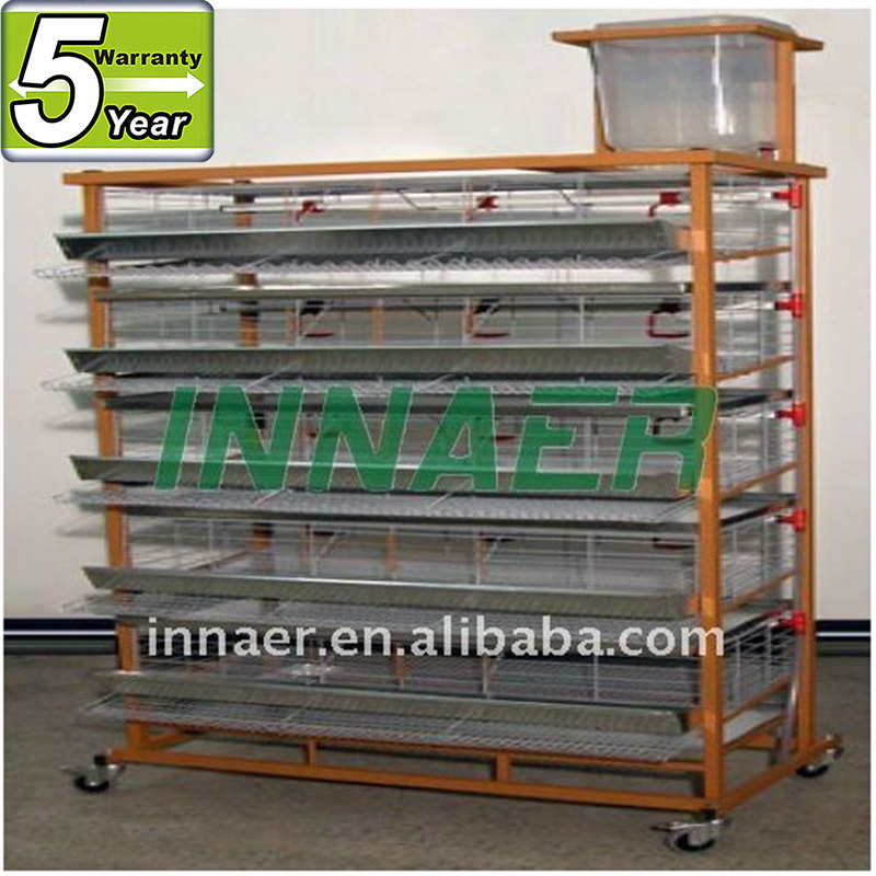 galvanized breeding quail cage