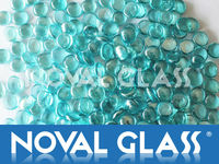 Iridescent Glass Beads, Glass cobblestone, Frosted Glass Beans