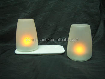 Cordless glass Cone shape LED tea light