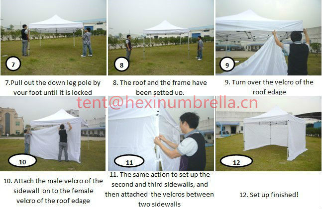 2015 promotional cheap steel frame foldable tent folding marquee/marquee tent