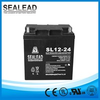 High reliability 12v 24Ah deep cycle rechargeable UPS battery