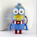 Custom made 3d cartoon light up led touch talking keychain make custom pendant keychain with recordable sound
