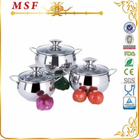 MSF Seen On TV 6pcs Stainless Steel Cookware MSF-3313