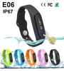 New E06 Smart Bracelet Bluetooth Call Notice Waterproof Sleep Monitor Fitness Tracker Smart Wristband Band for IOS Android Phone