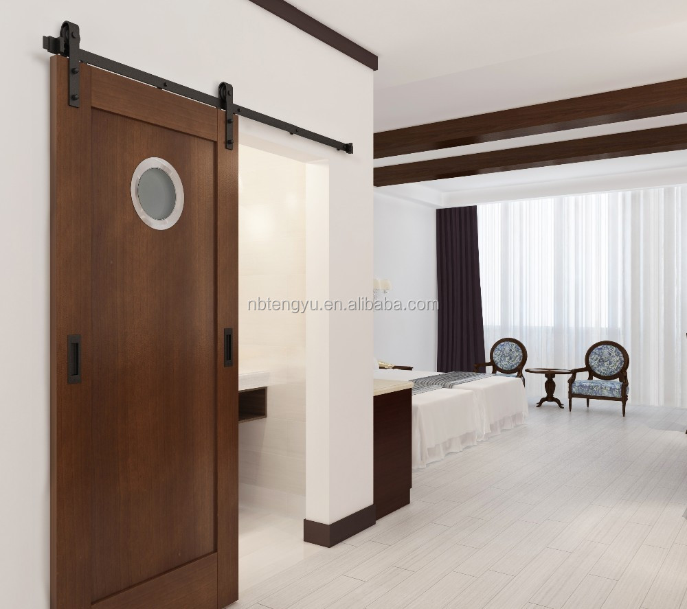 Four Points By Sheraton Bathroom Sliding Barn Door with Round Window