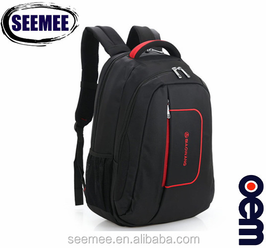 Biaowang wholesale <strong>school</strong> waterproof back bag black business laptop backpack bag