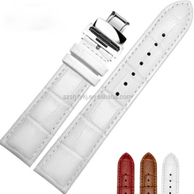 Deployment Clasp Butterfly Buckle Texture Western Genuine Leather Watch Bands