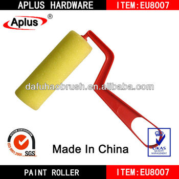 special red plastic handle sponge decorative paint rollers
