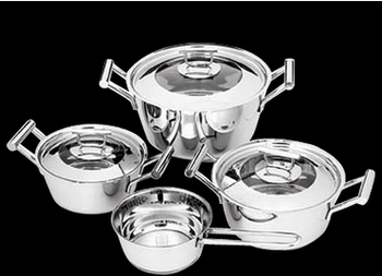 7pcs Hot Sale Stainless Steel Cookware Sets German Brands