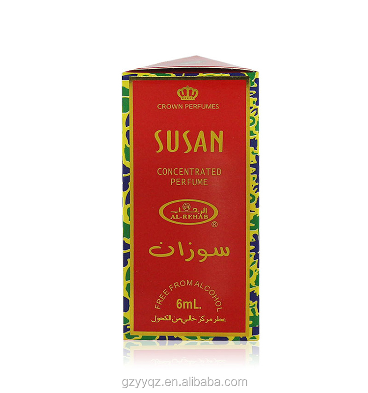 Wholesale Oriental Floral Scent Roll-on Form Concentrated Perfume Oil Al Rehab Susan Perfume 6ml