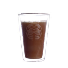 Hot selling 215ml double insulated glass coffee cups