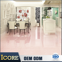 Foshan Design Pictures Pink Nano Polished High Gloss Porcelain Tile For Floor