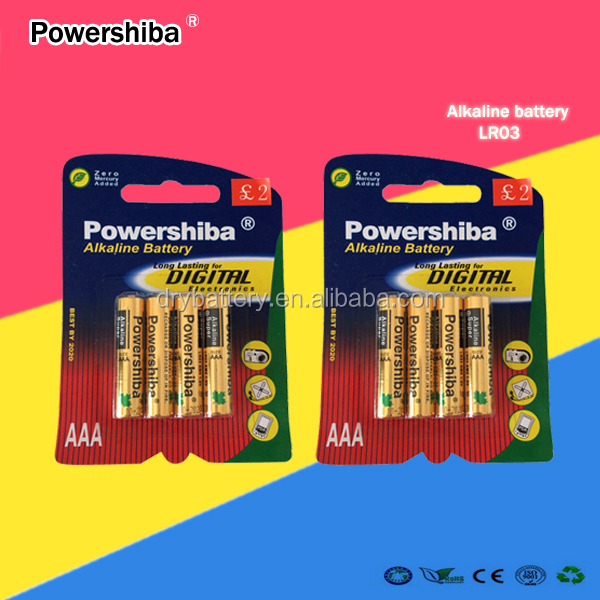 China manufacturer Size AAA Alkaline Dry Cell Battery