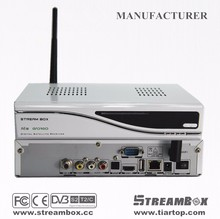 His3796 Chip (DVB-S2+T2+DVB-C) all in one Streambox A6 plus stand for tv receiver