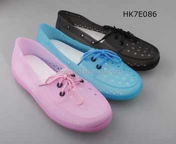 Women summer jelly beach shoes with lace