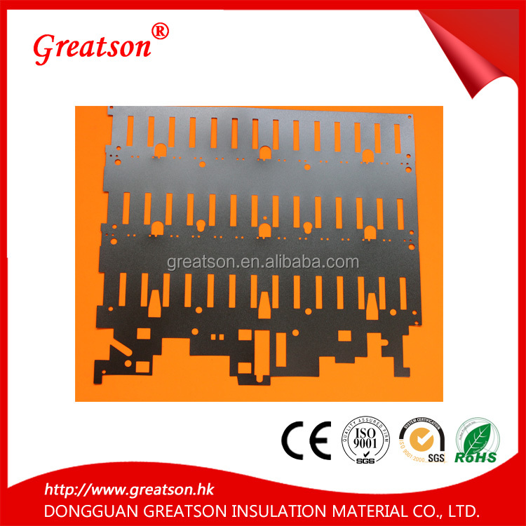 OEM with free sample flame repellent high temperature die cut black & white pc mylar insulation sheets for transformer
