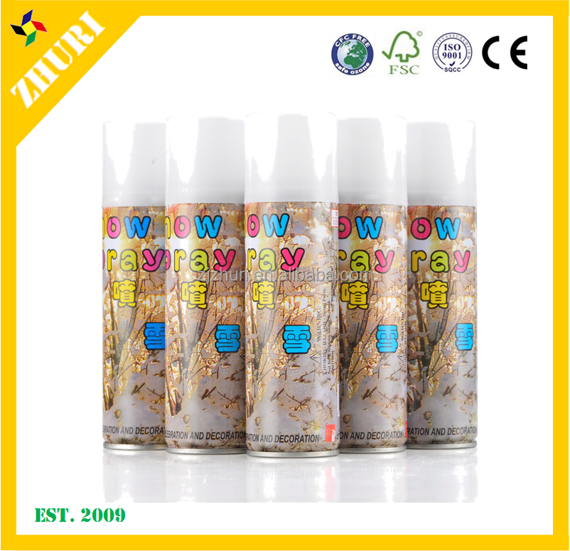 Taiwan 150ml perfumed christmas/party decoration/carnival party foam Snow spray
