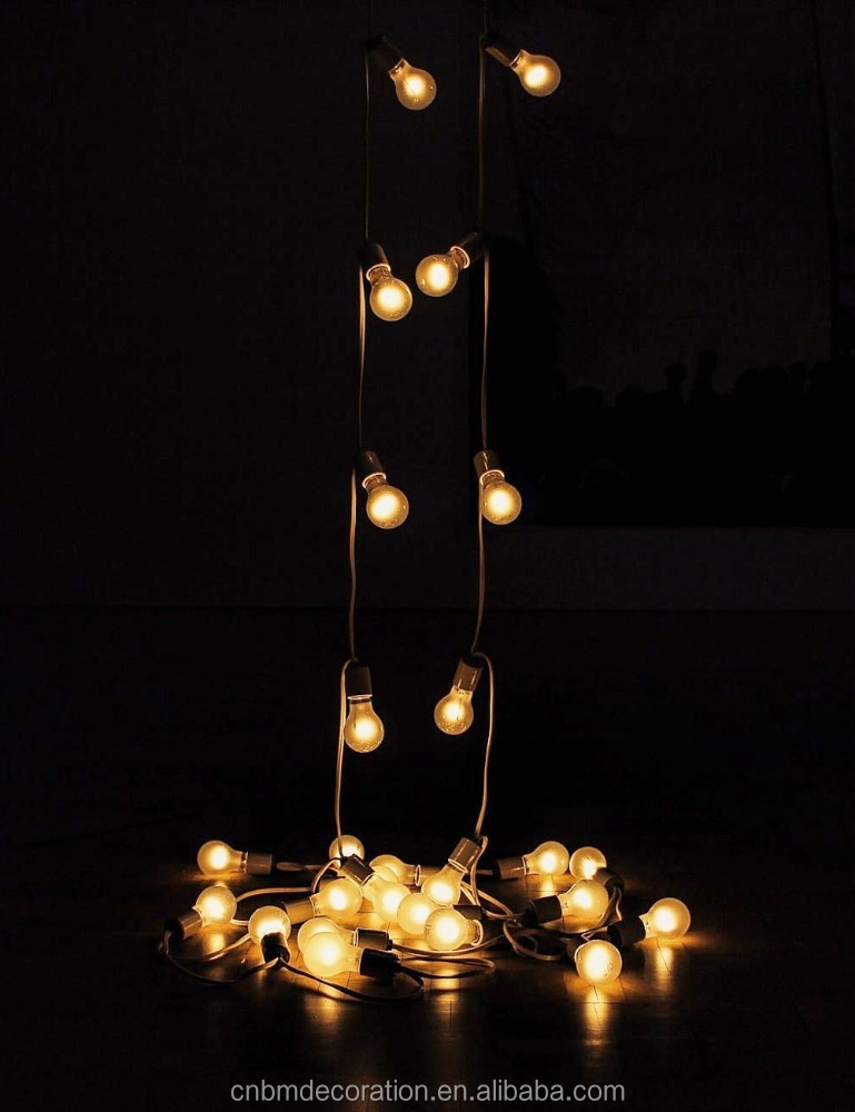 25ft G40 Clear Globe Bulbs Patio String Lights Indoor/ Outdoor String Lights