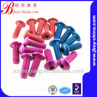 anodized aluminum screws socket head cap screws