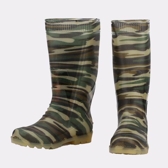Camouflage PVC Rain Work Boots