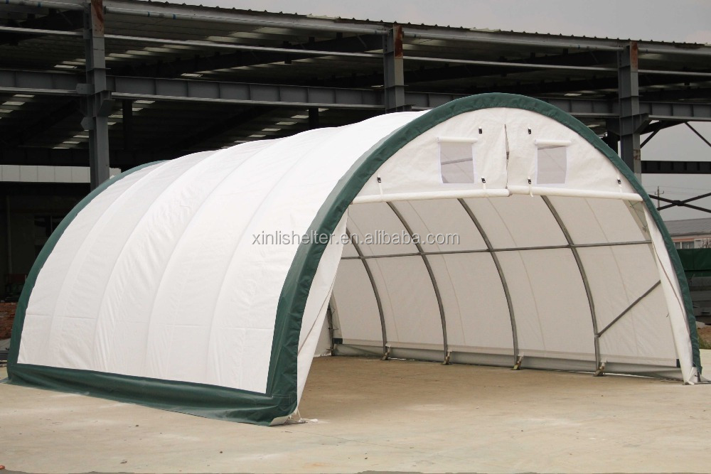Pvc Boat Shelter : R pvc fabric steel frame boat storage shed shelter