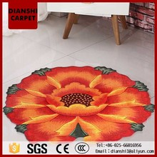 Round Area Rugs Fancy Floral Pattern Wall To Wall Carpet