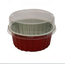 Colorful Coated Disposable Auminum Foil Yogurt Cup, Smooth wall round foil container