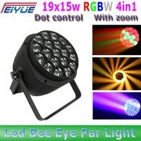 New arrival DMX18CH/22CH/94CH with zoom 19x15w RGBW 4in1 led bee eye led par light