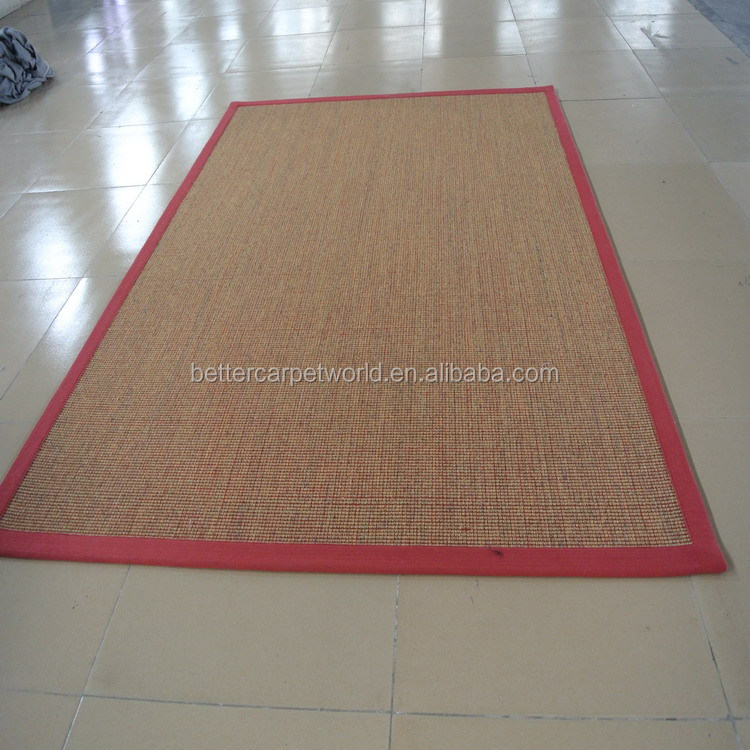 100% Natural Jute Axminster Carpet Five Star Hotel Carpet Sisal Carpet Tile