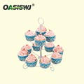 metal powder coated wedding cake stand for 12 cupcakes